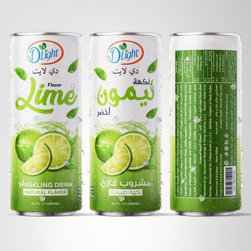 DLIGHT Lime Sparkling Drink