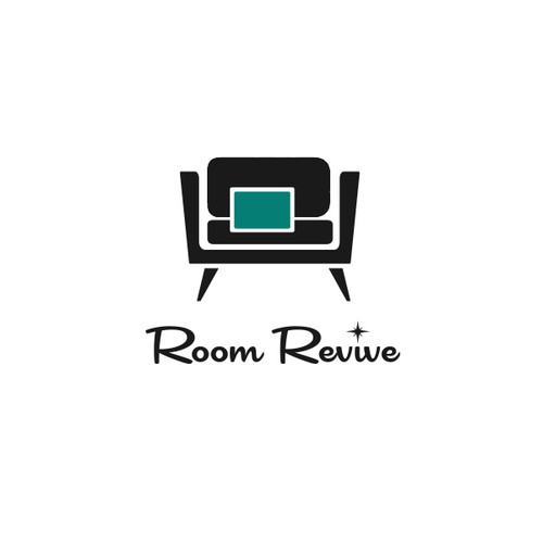 create a logo for a funky home decor store with a retro or kitschy vibe