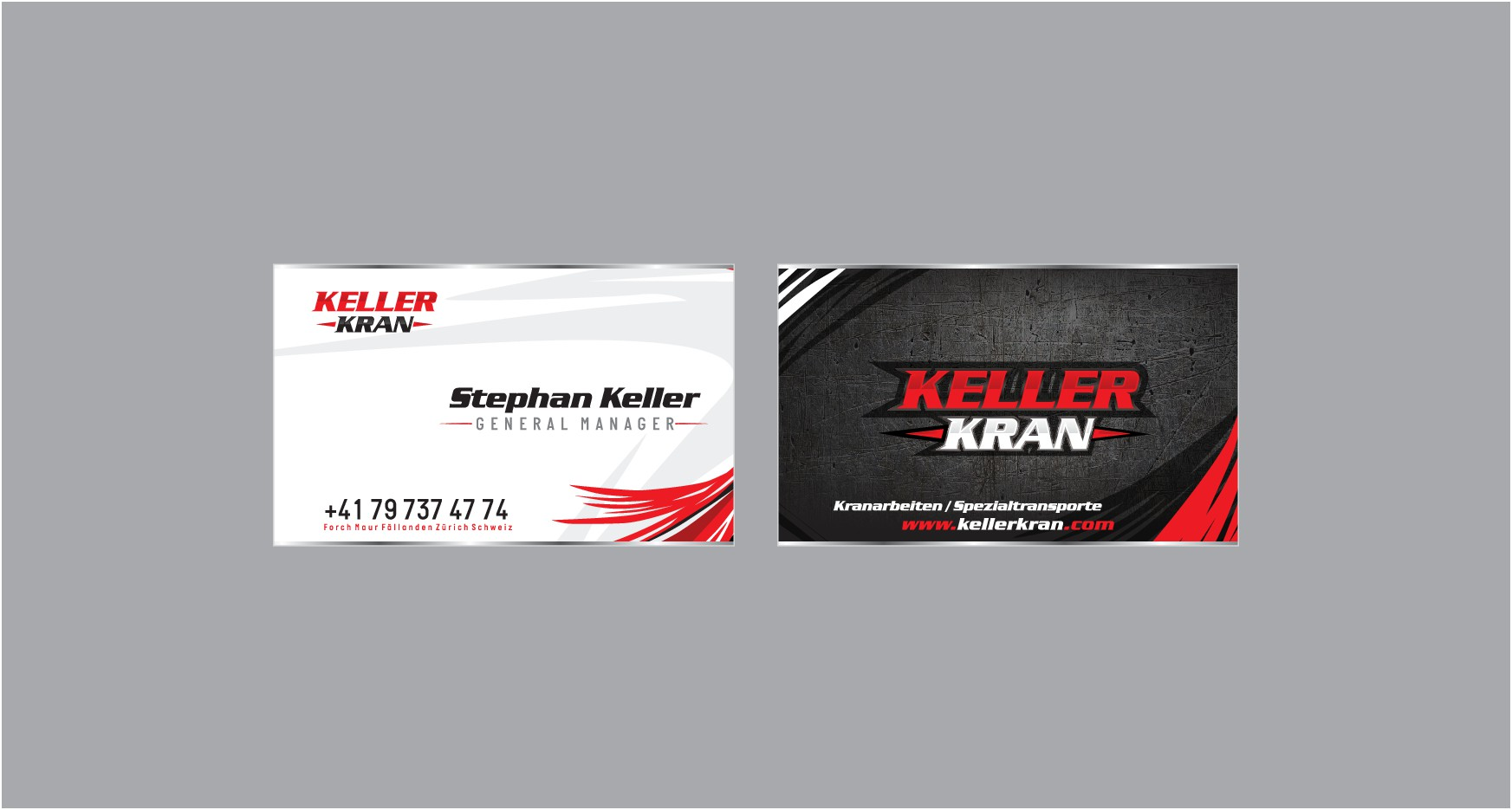 Keller Kran hebt ab