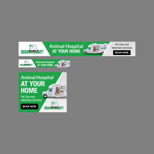 Banner Ads Design for Nova Mobile Vet