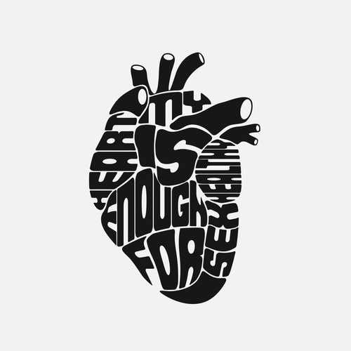 t-shirt illustration - my heart is healthy enough for sex