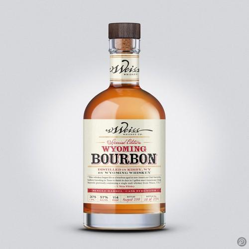 Bourbon label design