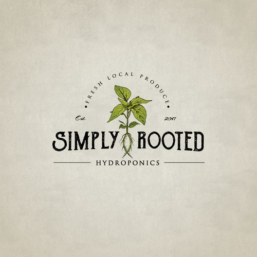 Simply rooted, logo