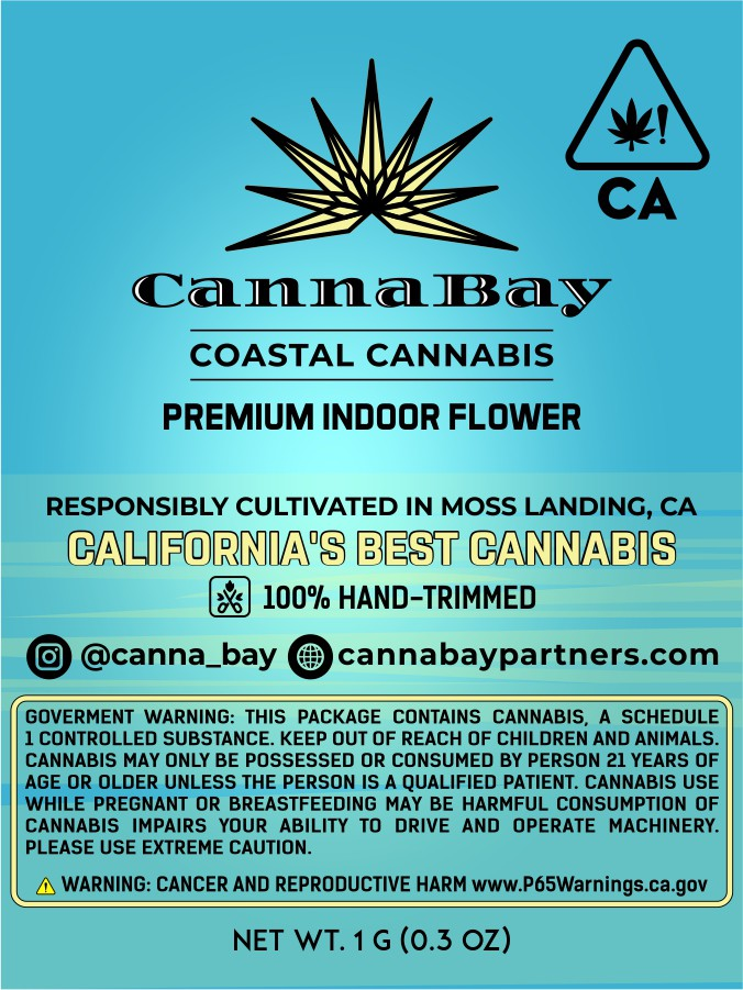 Changing Moss to CannaBay on existing logo. Packaging.
