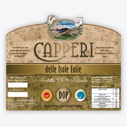 "Label Design for ""Capperi delle Isole Eolie"""