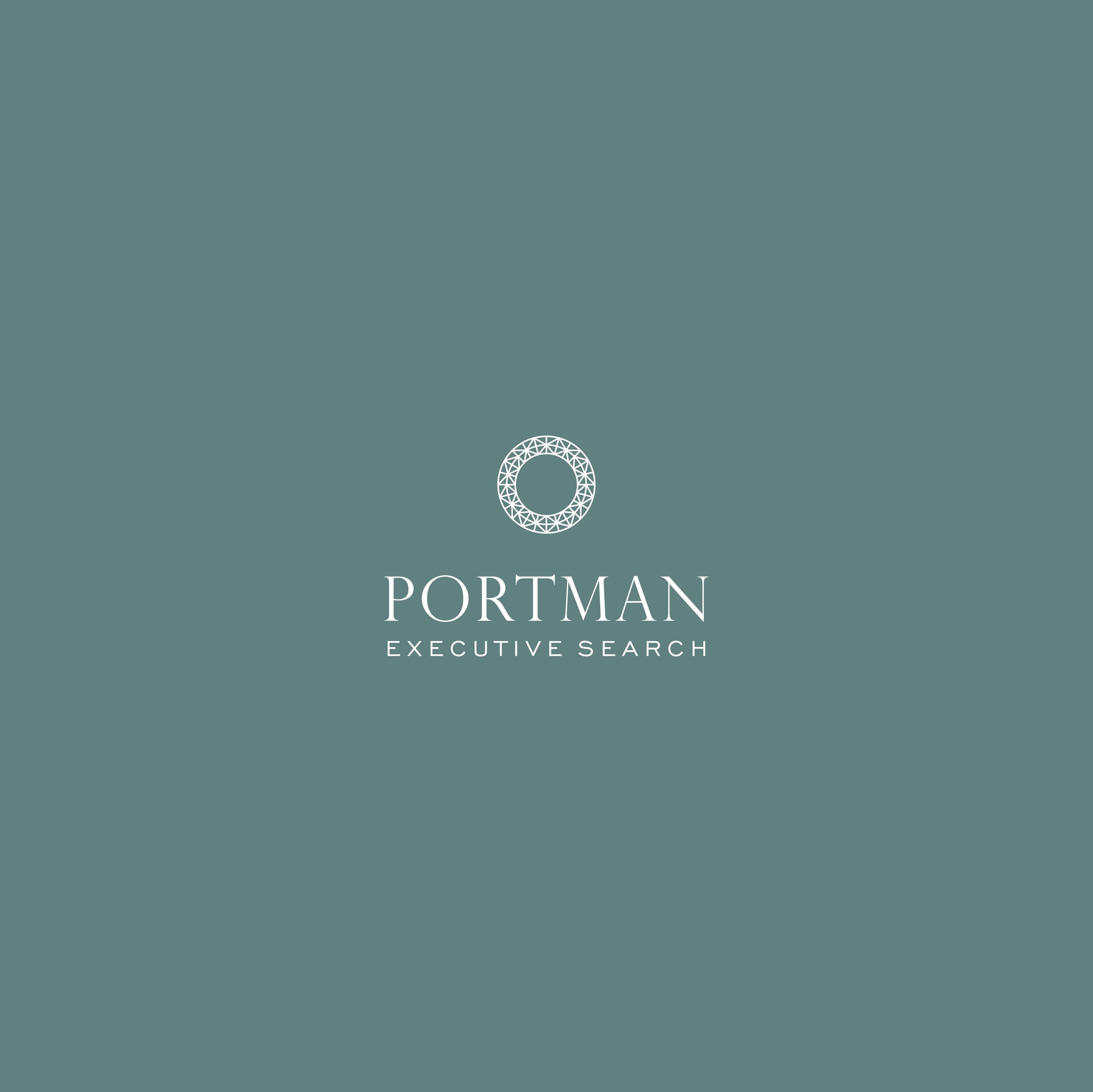 PORTMAN logo, bus. card, colour palette