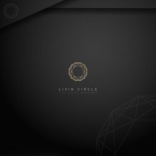 Elegant logo for LIVIN CIRCLE