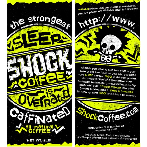 Shock Coffee Package Design