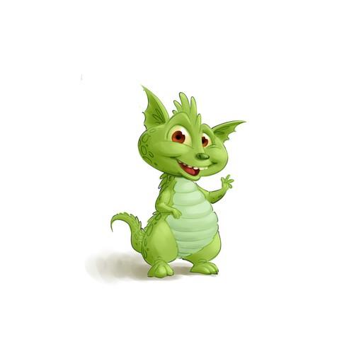 Cute baby dragon mascot