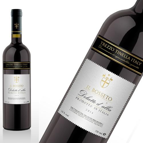Create the new wine labels for the Italian Winery Il Bosseto