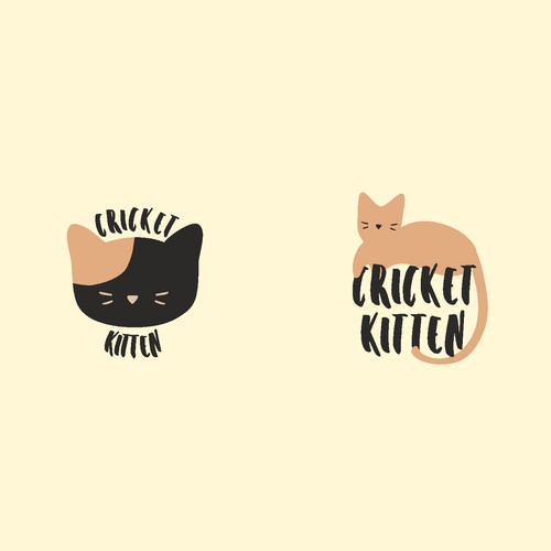Playful kitten logo