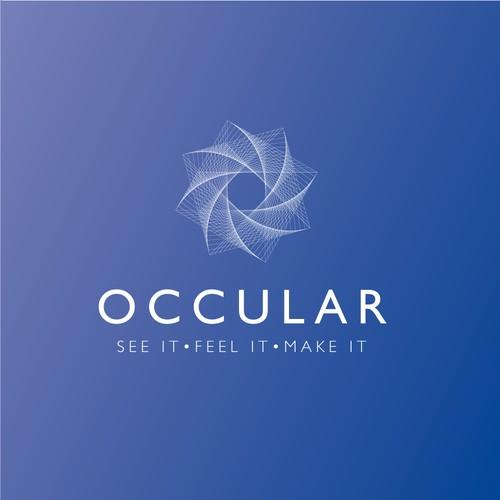 Optical logo for a 3d design agency
