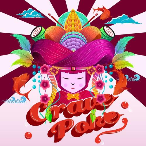 Crave Poke Mural Art