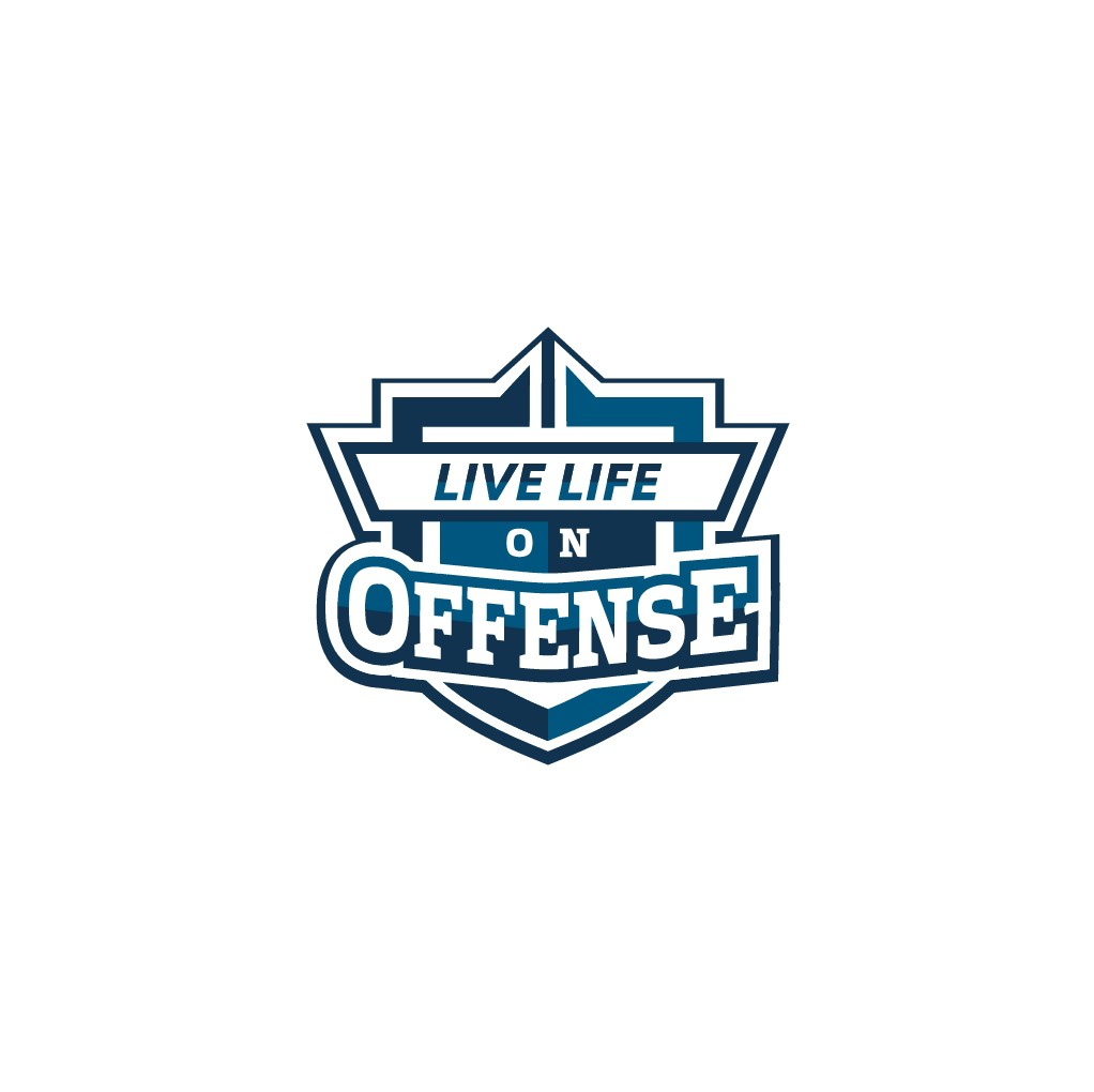 """Live Life on Offense"" logo for hall of fame running back Terrell Davis"