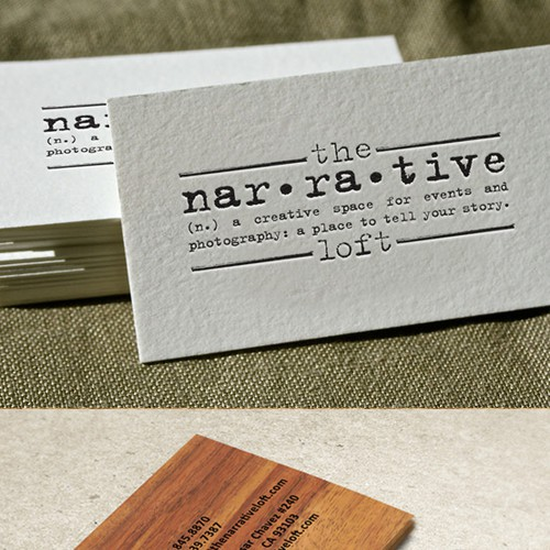 Event space/photography studio looking for a creative to design alogo/biz card that conveys both functions.