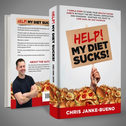 Book cover concept for 'Help! My Diet Sucks!'
