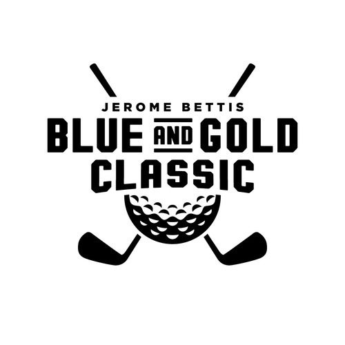 Bold logo concept for a celebrity golf tournament