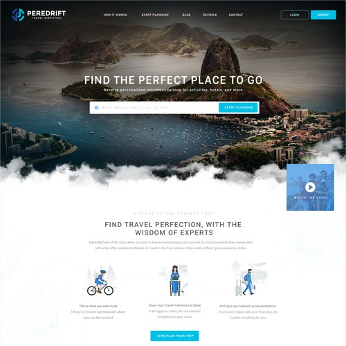Webdesign for a Travel Site