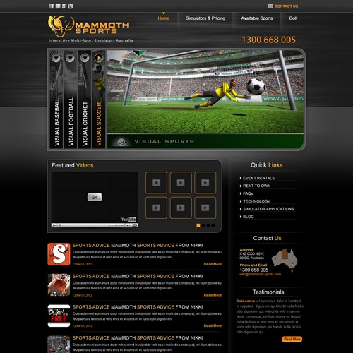 Mammoth Sports website