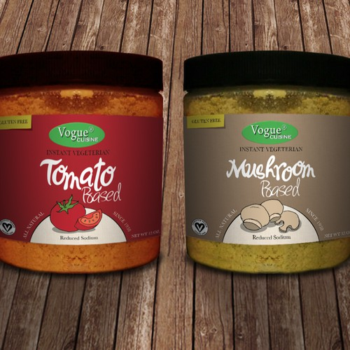 Create exciting product labels for 2 new gourmet healthy soup & seasoning bases!