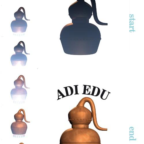 2d to 3d logo: video concept