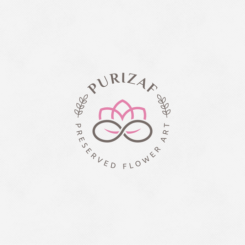 Logo for preserved flower shop