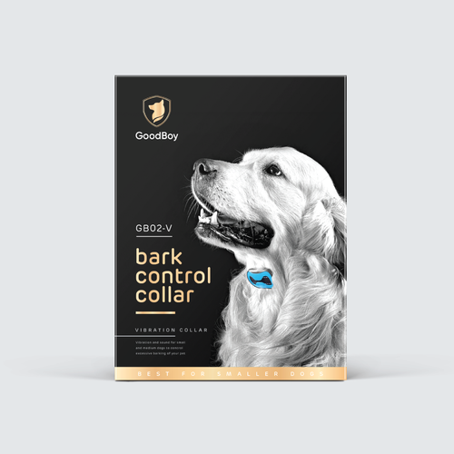 Dog Bark Collar package design