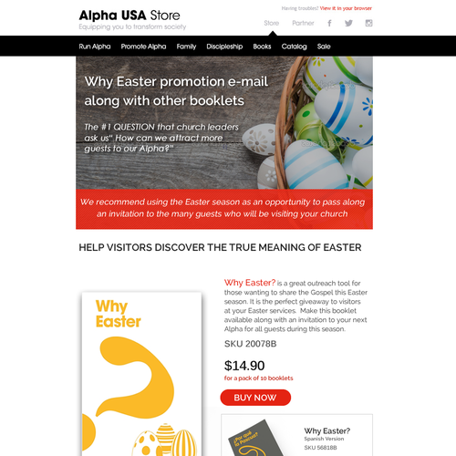 Creating a modern e-mail featuring an exciting product for Alpha