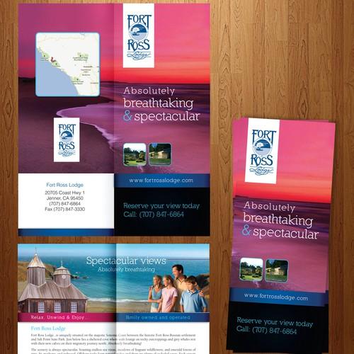 2 Fold brochure design for Fort Ross Lodge