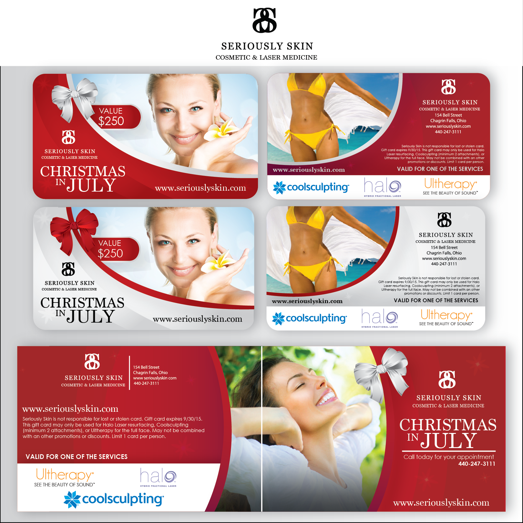 Create a gift card for a Medical Spa