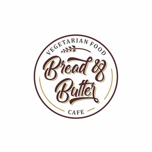 Design a clean fresh hipster logo for a small urban vegetarian cafe called bread&butter