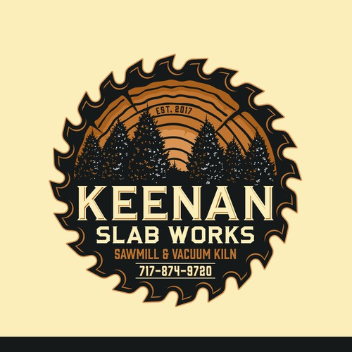 Keenan - logo for sawmill business and vacuum lumber drying kiln
