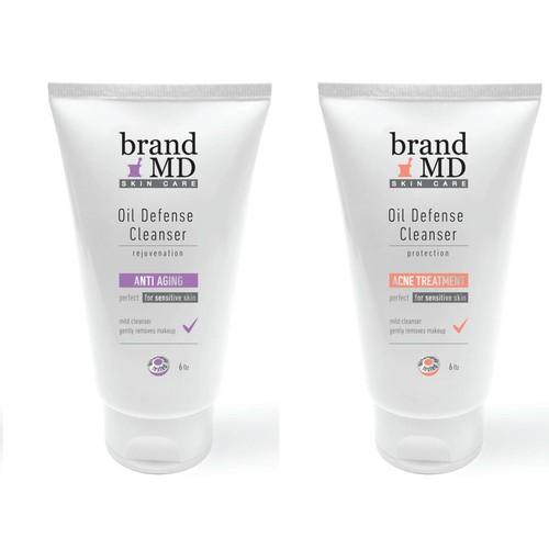 Brand Skin Care Company Label Design