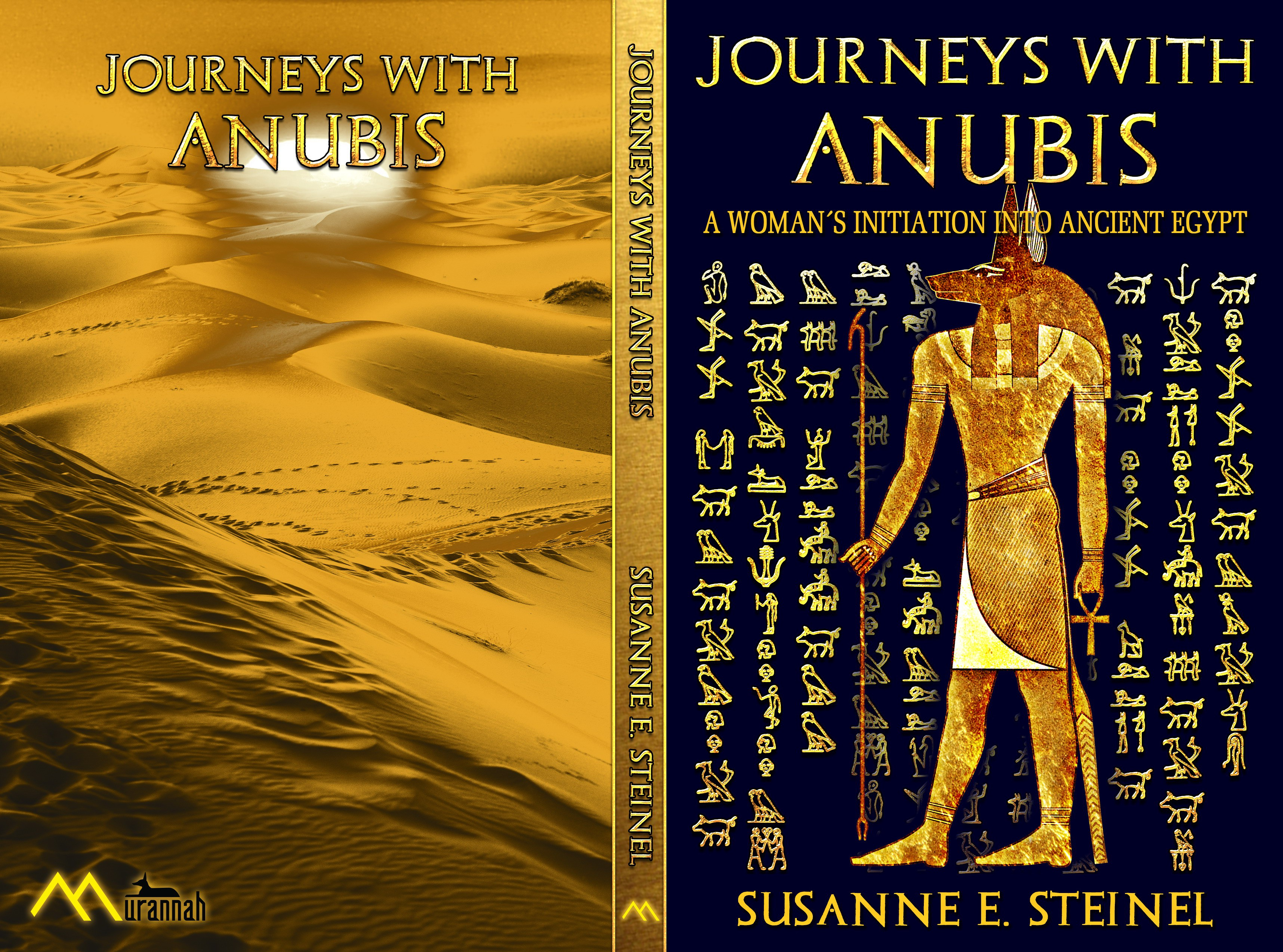 Create magnetic ancient Egypt Anubis Book Cover + Company Logo