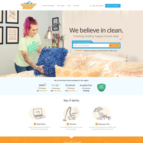 Webpage Design for a Home Cleaning Company