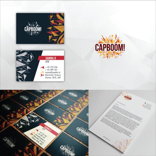 Capboom! Logo & Branding Package
