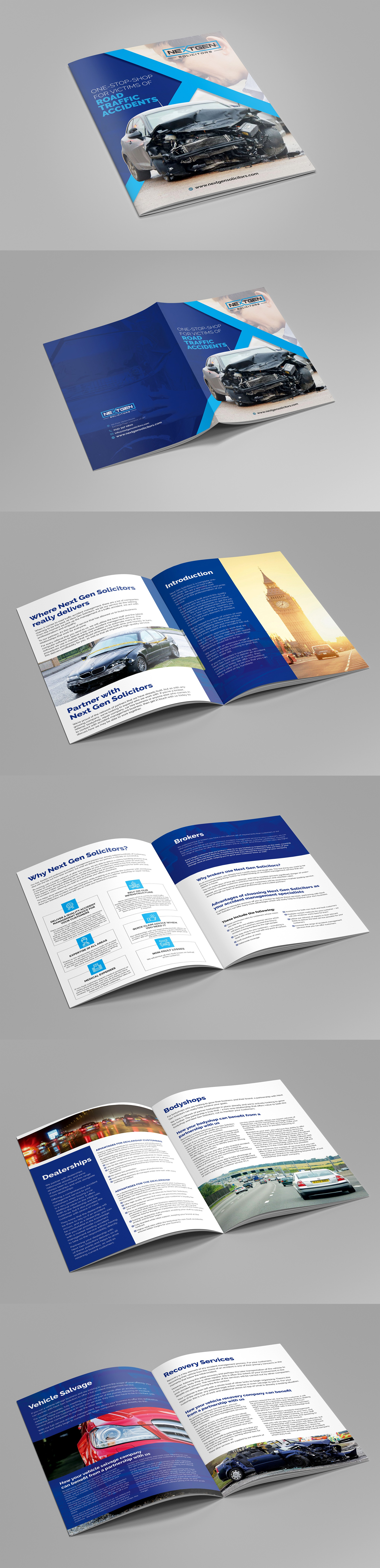 Add pages to brochure you have done
