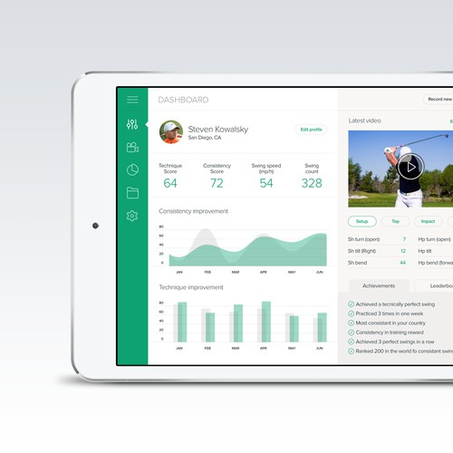 Design a modern Golf iPad App
