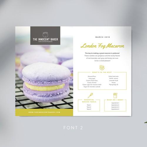 The Innocent Baker Recipe Card Design