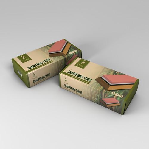 Packaging Design for Kitchen Sharpening Stone