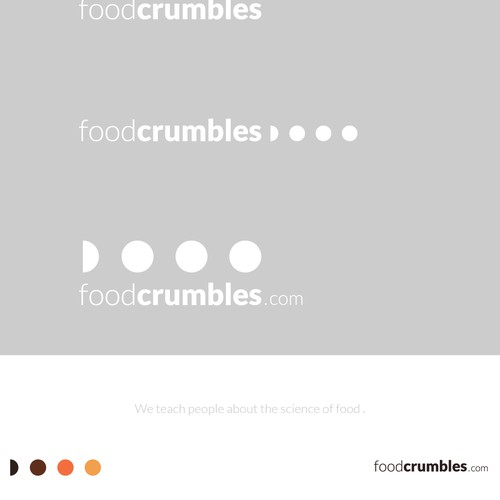 Modern style foodcrumbles logo