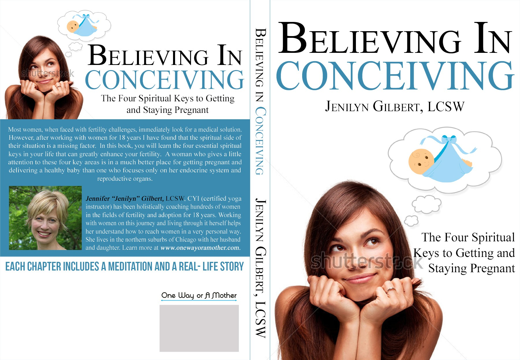 Create a book cover for a spiritual perspective on fertility