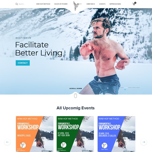 Professional Website for Wim Hof Method Instructor