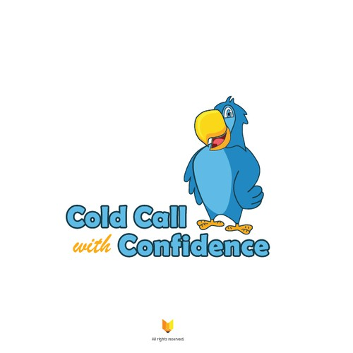 Design a character/mascot-driven logo for Cold Call with Confidence