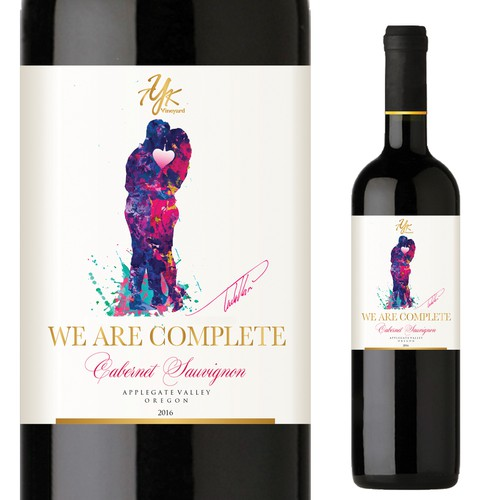 Create wine label for We are Complete Cabernet Sauvignon