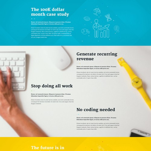 Homepage Design for SaaS Product Startup