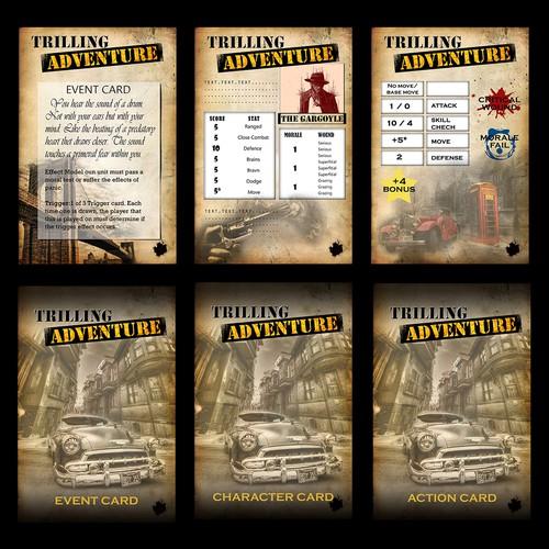 Pulp Era Card Game Designs