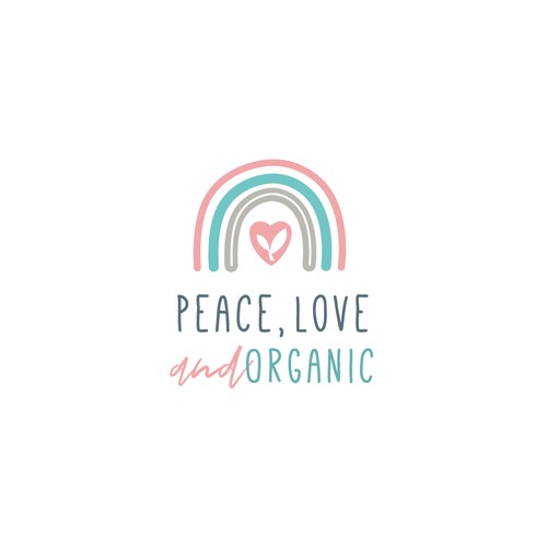 Hipster logo for organic food store