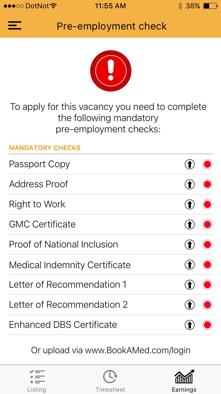 Pre-employment check