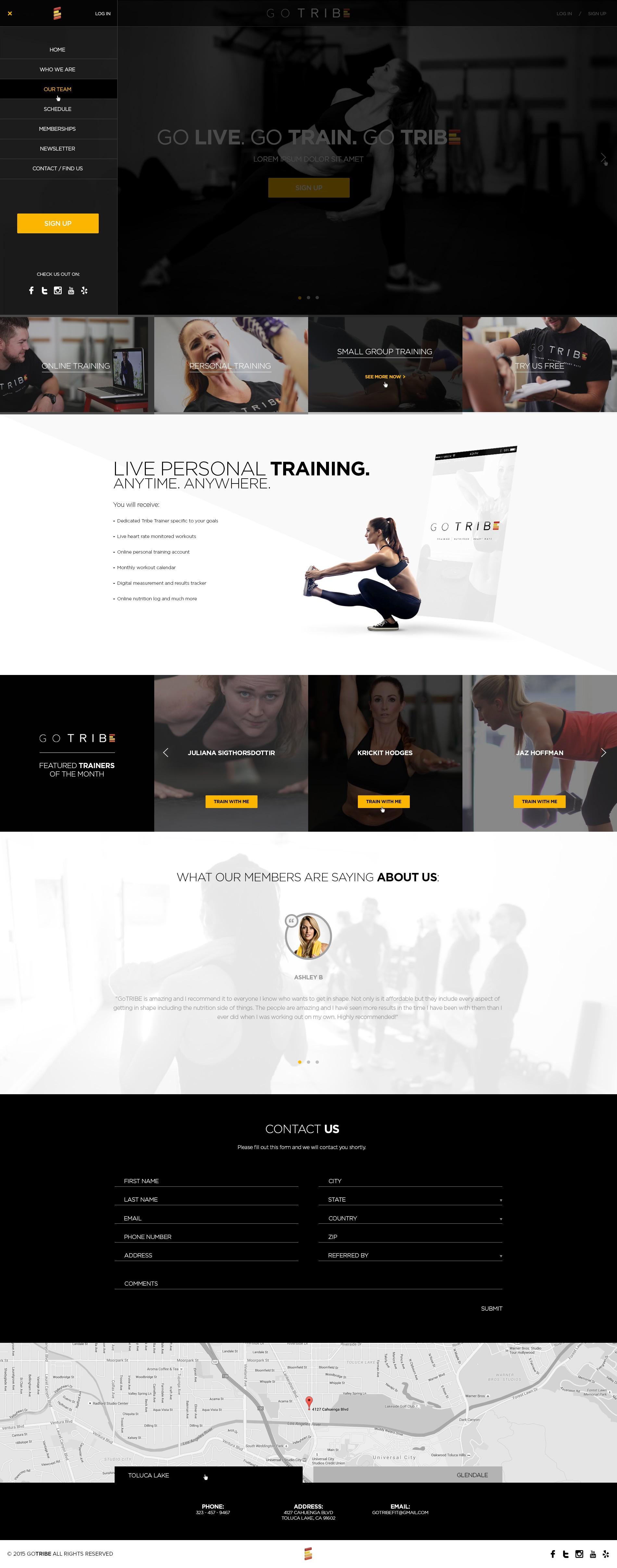 Design a clean & modern Wordpress Theme for GoTRIBE Fitness